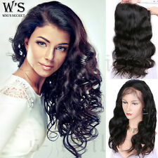 Human Hair Full Lace Wig For Womens Ladies Long Hair Loose Wave Body Straight UK