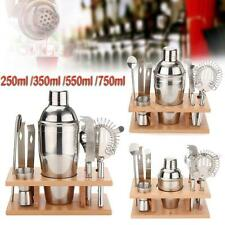 Stainless Steel Cocktail Shaker Mixer Drink Bartender Martini Tools Bar Set !
