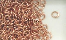 Solid Copper Oval Jump Rings 6x7mm, Choice of Lot Size & Prices