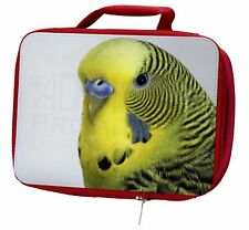 Yellow Budgerigar, Budgie Insulated Red Lunch Box, AB-51LBR