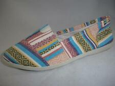 Women's SODA OBJECT Multi-Color Canvas Slip On Loafers Casual/Comfort Shoes NEW