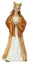 GIRLS MEDIEVAL TUDOR COSTUME PRINCESS LADY QUEEN FANCY DRESS OUTFIT AGE 4-6-9-11