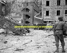 WW2 Normandy France Battle of Cherbourg  Black n White Photo Military  1944 Army