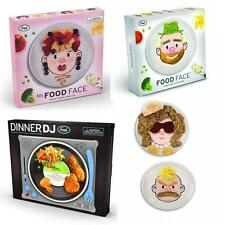 Fred Dinner Food Face & DJ Designs Kid's Dinner Tray plates