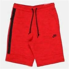 NEW MENS NIKE TAPERED RED GRAY SHORTS SIZE L XL ATHLETIC SHORTS SPORTS 628984