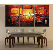 3PC New Oil Painting Abstract Modern Art Canvas Wall Parlor Bedroom With Framed