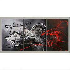 New 3PC Oil painting Abstract Modern Art Canvas Wall Parlor Bedroom With Framed