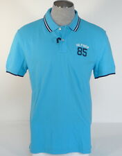 Tommy Hilfiger Classic Fit Blue Cotton Short Sleeve Polo Shirt Mens NWT