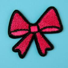 Red Bow Iron on Sew Collar Patch Applique Badge Embroidered Motif Applique Cute