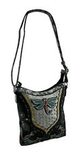 Studded Dragonfly Metallic Trim Western Concealed Carry Crossbody Purse