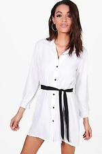 Boohoo Womens Freya Woven Scarf Shirt Dress