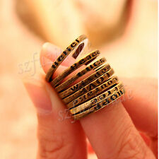 Retro finger Tail Ring Fashion Simple Vintage Courage Hope LOVE Luck Belitf OE