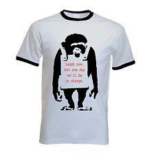 BANKSY LAUGH NOW MONKEY T-SHIRT - Choice Of Colours - Sizes S to XXL