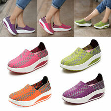 WOMENS LADIES TRAINERS COMFORT WOVEN ELASTICATED STRETCH GYM PUMPS SPORT SHOES