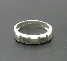 Sterling silver ring band solid 925 Empress R000730