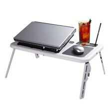 Portable Laptop Table - Fan Assisted - Folds Up - Keep Your Lap Cool!
