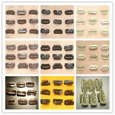 50Pcs 28-36mm U Tear Shape Snap Metal Clips For Hair Extensions Weft Clip-on Wig