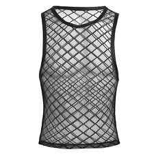 Mens Cool Sleeveless Vest Mesh Net Fishnet Sheer Muscle T-Shirt Tank Top Singlet