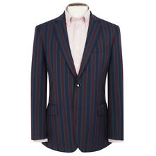 New Mens Brook Taverner Richmond Striped Blazer - Red/Navy/Green - Choose Size