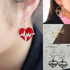 Lovely Heart Face Drop Dangle Ear Stud Earrings Fashion Women Lady Jewelry Party