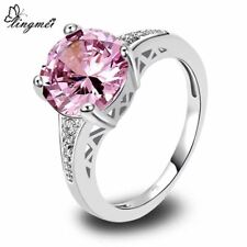 Round Cut AAA Multi-Color CZ Silver Ring Size 6 7 8 9 10 11 12 13