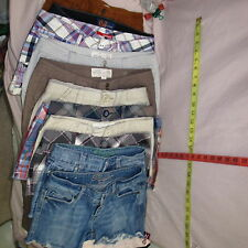 .Shorts Blue Denim Plaid Tan Orange Brown Many Brands 0 00 1  3 4 5 6  9  XS