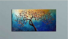 Large Modern Abstract Art Oil Painting Wall Decor Tree on canva Framed