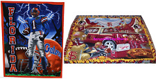 "NCAA College Fleece Throw Blanket Hand Tied 48"" x 60"" Florida Gators Seminoles"