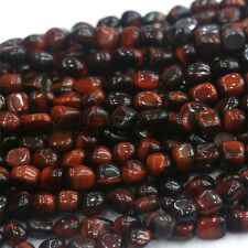 Natural Genuine Red Tiger's Eye Stone Small Nugget Free Form Stone Beads