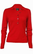 Sutton Studio Womens 100% Cashmere Polo Sweater Petite