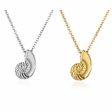 Fashion Charm Crystal Snail Pendant Necklace Chain Women Lady Jewelry Gift Party