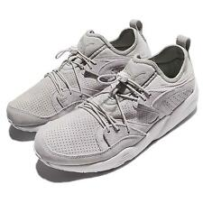 Puma Blaze Of Glory Soft Suede Gray Violet White Men Running Shoes 360101-07