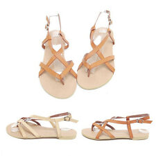 Women's Flat Sandals Strappy Summer Beach Gladiator Thong T Strap Flat Sandals