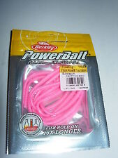 "BERKLEY POWERBAIT TROUT WORM PBHFT3 SOFT FISHING BAITS 3"" ALL COLOURS 15/pack"