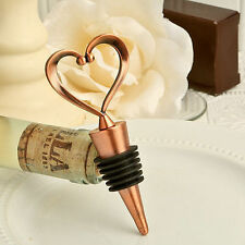 """One Love, One Heart"" Vintage Design Bottle Stoppers Wedding Favor   50-96 Qty"
