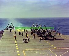 USN F4U-4 Corsair Color Photo Military KOREAN WAR Aircraft VF-874 1952
