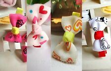 1Pc Baby Toddler Girls Cute Bowknot Hair Clip Kids Cartoon Ribbon Bow Hairpin