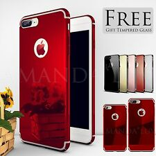 Ultra thin Hard back Case Mirror Cover For iPhone 6 s 7 Plus Free Tempered Glass