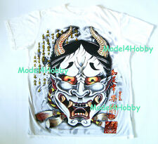 EMPEROR ETERNITY T-Shirt White M L XL JAPANESE KABUKI ONI BUSHIDO RED GOLD FOIL