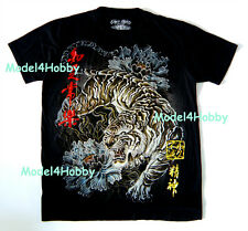 EMPEROR ETERNITY T-Shirt Black M L XL ORIENTAL ARTS TIGER GOLD RED FOIL TATTOO