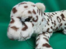 BIG LIFELIKE CASCADE SNOW LEOPARD JAGUAR BROWN CREAM SOFT PLUSH VINTAGE CHEETAH