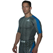 Adidas 'Ultimate' Short Sleeve MMA Rashguard - Granite/Black/Silver