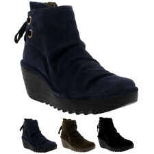 Womens Fly London Yama Oil Suede Lace Up Wedge Heel Winter Ankle Boots UK 3-9