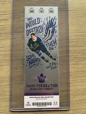 2016-17 Toronto Maple Leafs NHL Official Mint Ticket Stubs - pick any game!