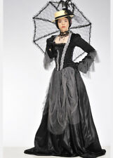 Womens Black and Grey Victorian Lady Costume INCLUDES DRESS ONLY