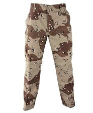 Six Color Chocolate Chip DESERT Camo BDU Cargo Pants Paintball Navy Army Marines