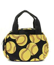 Softball Insulated Lunch Tote Bag-- Lunch Bag-Back to school Item!