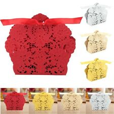 25-100PCS Luxury Wedding Party Favor Sweets Cake Candy Gift Favour Favors Boxes