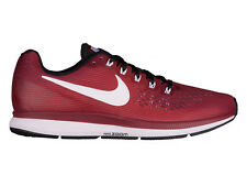 NEW MENS NIKE AIR ZOOM PEGASUS 34 RUNNING SHOES TRAINERS TEAM RED / WHITE / BLAC