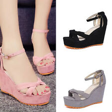 Casual Women's Shoes Sandals Wedge Heels Summer High Platform Open Toe Shoes HOT